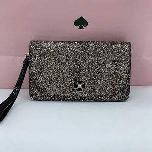 Kate Spade ♠️ Glitter Wristlet NEW Collection